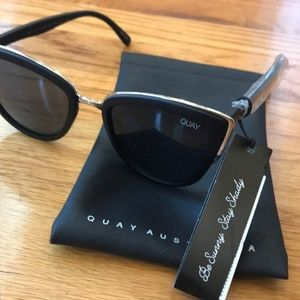 NWT Quay Australia Sunglasses MY GIRL Smoke/Black